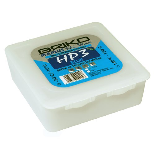 Briko-Maplus HP3 Blue High Fluorinated Ski and Snowboard Solid Wax (250 Grams)