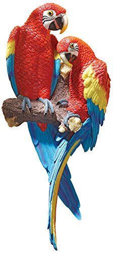 Design Toscano Tropical Scarlet Macaws Wall Sculpture