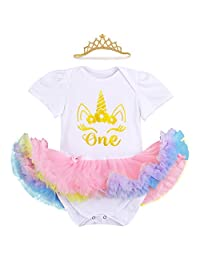 Baby Girl Newborn It's My 1st Birthday Outfits Romper+Shoes+Headband Tutu Dress