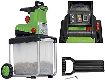 Trituradora eléctrica FLH 2800 B2, incluye caja transparente para jardín: Amazon.es: Bricolaje y herramientas