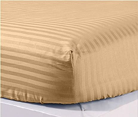 Scala New Collection 300 Thread Count 1 Peice Fitted Sheet 22u0026quot; Deep  Pocket In Stripe