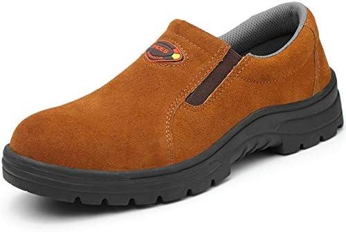 作業靴 メンズ マーティンシューズ ローカット スエード 工場用 つま先保護 先芯入り 銅製ミッドソール 刺し防止 火花散らす保護 厚底 クッション性 頑丈 滑り止め 蒸れない 臭くない 安全靴