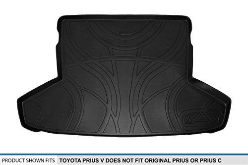 2012-2016 MAXLINER D0124 Tray Cargo Liner for Toyota Prius V Black Does Not Fit Original Prius Or Prius C