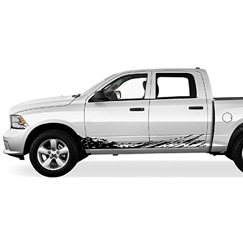 Bubbles Designs Off-Road Mud Splash Decal Graphic Vinyl Compatible with Dodge Ram 2009-2017 (Black)