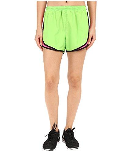 Nike Women's Tempo Short, Action Green/Hyper Pink/Black/Wolf Grey, XS X 3.5 (Nike Dark Green Shorts Women)