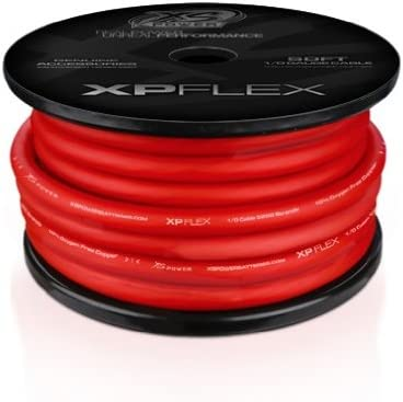 amazon com cables battery accessories automotive positive 1960 Chevy Starter Wiring xs power xpflex0rd 50 xp xs flex iced red 50\u0027 spool high current