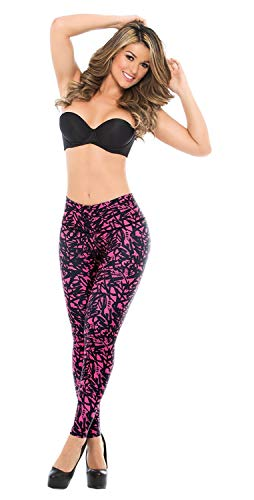 Bella Mia Faja Leggings Estampado Levanta Colo with internal Powernet body shaper 1119 (L)