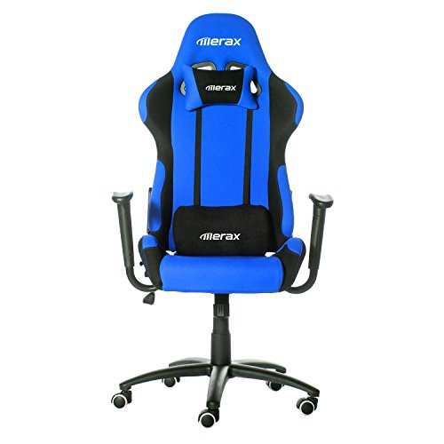 41DjGnyYaKL - Merax-Ergonomic-Office-Race-Car-Seat-Racing-Chair-Gaming-Chair-Executive-Computer-Chair-BlackBlue