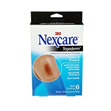 Nexcare Tegaderm Waterproof Transparent Dressing, Large Size, 6 Count