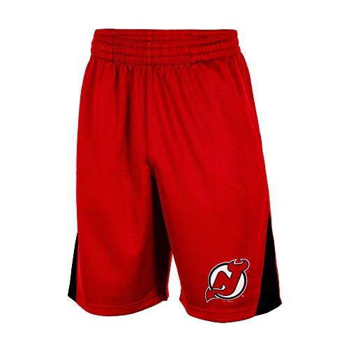 NHL New Jersey Devils Men's Training Shorts, X-Large, Red
