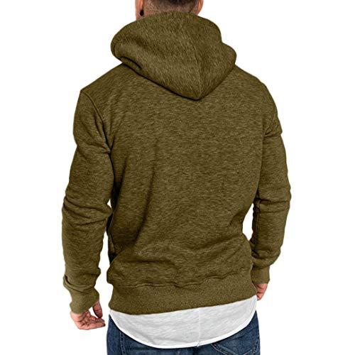 Cime O UomoTinta Felpe Manica Shirt Camicetta Pullover Verde shirt CappuccioTumblr Ragazzo Di Collo Camicie UnitaMaglietta Con Casual camicia Uomo Lunga T Tunica Feixiang XwZuOkiTlP