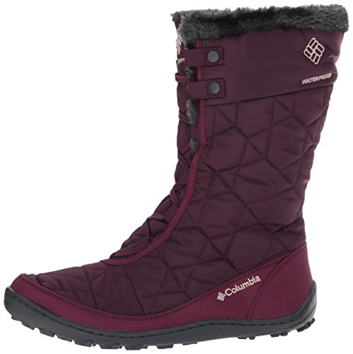 Columbia Women's Minx MID II Omni-Heat Snow Boot Purple Dahlia, Ancient Fossil 7.5 B US
