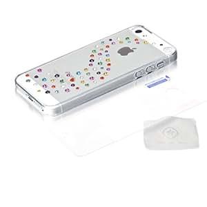 BlingMyThing BMT-22-00-02-12 Milky Way - Carcasa rígida con cristales de Swarovski para Apple iPhone 5, varios colores y transparente