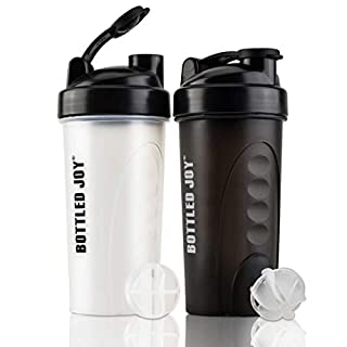 Shaker Bottle for Protein Mixes BPA-Free Leak Proof Smothies Mixer Water Cups 2 Pack