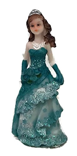 Amazon Sweet 16 15 Mis Quince Anos Birthday Cake Topper Turquoise Figurine Everything Else
