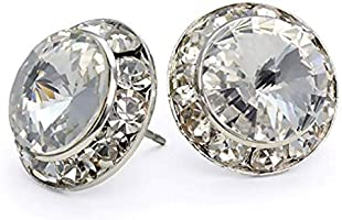 Dance Competition STUD Earrings - 15mm Swarovski Crystal