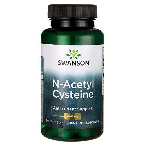 NAC N-acetyl Cysteine 600mg 3 Bottles of 100 Caps Total of 300 Caps by Swanson