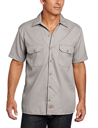 Dickies Short Sleeve Work, Camiseta con Manga Corta Para Hombre Gris