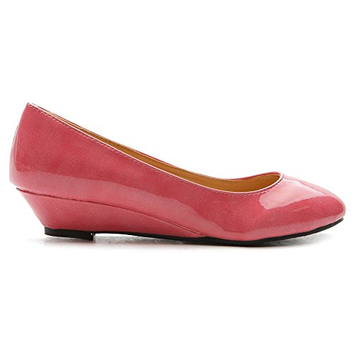 Heel Shoe Pink Low Ballet Color Flat Multi Ollio Women's Enamel wR7ITT