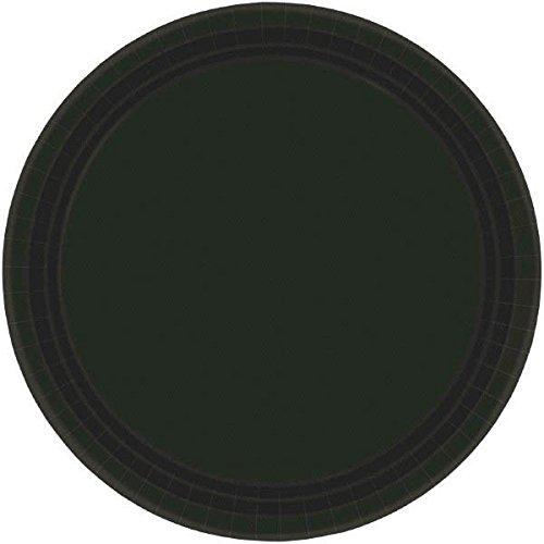 (Amscan Jet Black Round Paper Plates | 10.5