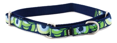 PetSafe Fido Finery Martingale-Style Dog Collar, 1/2-Inch, Petite, Stormy Circles