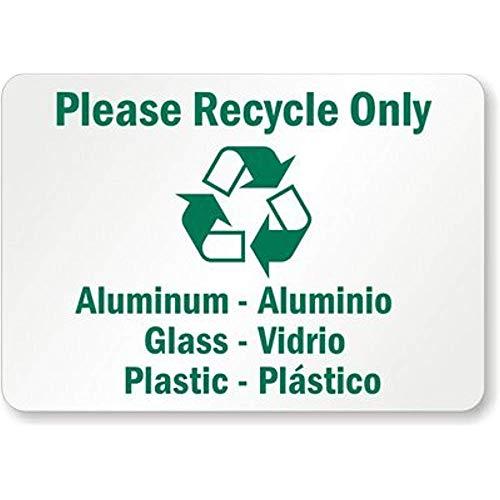 Please Recycle Only, Aluminum - Aluminio, Glass - Vidrio, 118