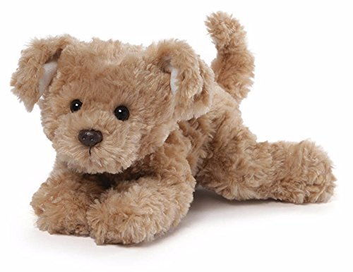 GUND Slippers Brown Plush Dog