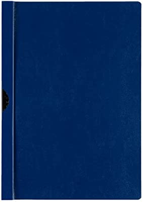 Pack of 25 Niceday Clipfile Polypropylene Dark Blue A4 3mm