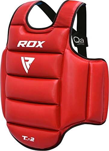 RDX TKD Chest Guard Boxing MMA Body Protector Martial Arts WTF Reversible Rib Shield Armour Taekwondo Target Training (Body Shield)