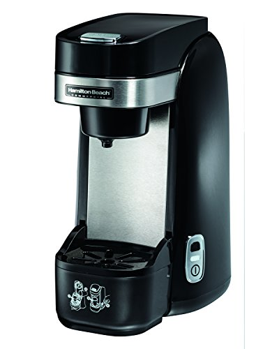 Hamilton Beach Commercial HDC310 Deluxe Single-Serve Coffeemaker, One Cup Coffee Brewer, Auto Shutoff, Drip Tray, Black/Stainless Steel by Hamilton Beach Commercial