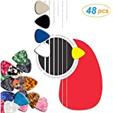 48PCS Guitar Picks, Premium Variety Pack of LSSH Guitar Pick Sampler, Mixed Colors & Different Textures Pick For Acoustic, Electric, Bass Guitarra and Ukulele