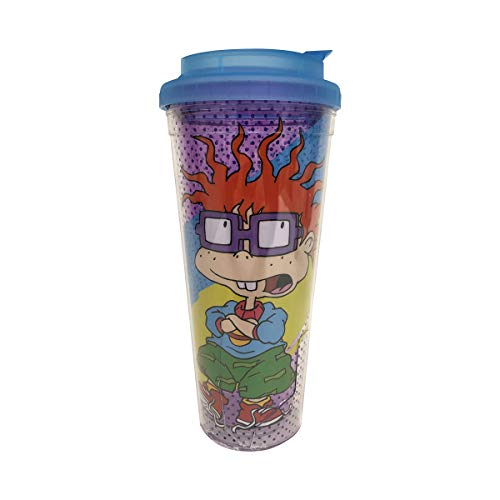 Nickelodeon NI2258M Rugrats Chuckie Double Walled Plastic Travel Mug, 24-Ounce, Multicolor]()