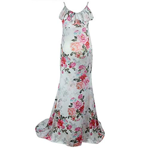 Nat Terry Women Maternity Dresses, Short Sleeve Floral Printing Photograph Pregnant ()