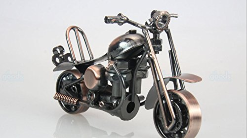 Metal sculpture - Retro Classic Handmade Iron Motorcycle unique metal art decor - home décor (5.5