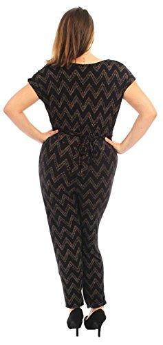 42 Black Plus 56 Flügelärmeln Kleid Fallausschnitt Chocolate Damen Jumpsuits Pickle Aztec Neue Gedruckt Größe ® Zaq6IP