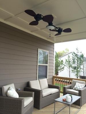 Harbor Breeze Twin Breeze Ii 74 In Oil Rubbed Bronze Outdoor Downrod Ceiling Fan Review