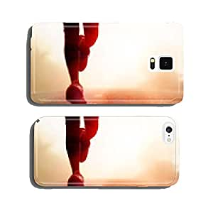 Athlete running road silhouette cell phone cover case Samsung S6