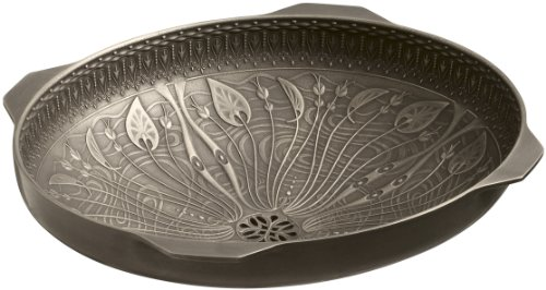 KOHLER K-14297-MP1 Lilies Lore Cast Bronze Undercounter Bathroom Sink, Medium Patina (Bronze Undercounter Lavatory)