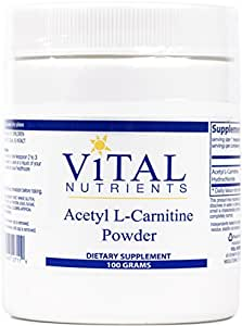 Vital Nutrients - Acetyl L-Carnitine Powder - Supports Normal Brain Function - 100 Grams
