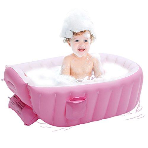 Coco Bañera Inflable del bebé, (0-3 años) Baño del bebé (0-3 años), Color de Rosa, Azul (Color : Pink)