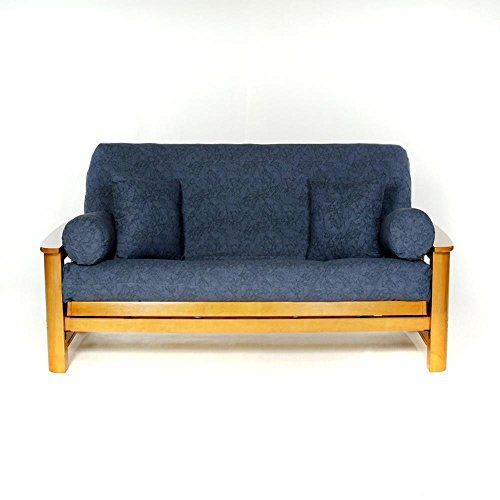 LS COVERS MIDNIGHT DENIM FULL FUTON COVER, Full Size Fits 6-8in Mattress, 54 x 75 Inch - Futon Cover Printed