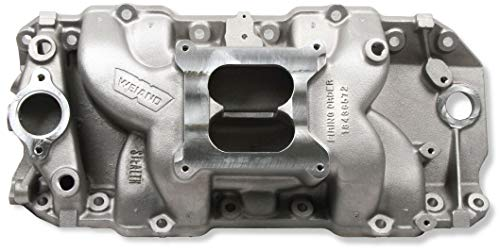 (NEW WEIAND STEALTH INTAKE MANIFOLD, FITS CHEVY BIG BLOCK V8, 396-502 CI WITH HIGH PERFORMANCE RECTANGULAR PORT HEADS)