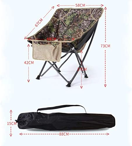 HYXI-Camping Chair Outdoor Folding Chair, Hiker Beach Fishing Camping Sketch Chair, Maximum Load 120KG