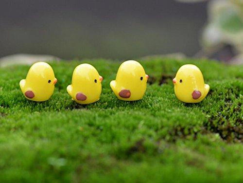 Zehaer 5 Pcs Mini Cartoon Cute Little Chicks Decoration Succulents Decoration(Yellow)