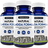 Stonehenge Health Natural Candida Formula - 4-in-1 Max Strength Natural Herbal Antifungal Cleanse with Enzymes - Support for Yeast Infection + Flora Balance (3 Pack)