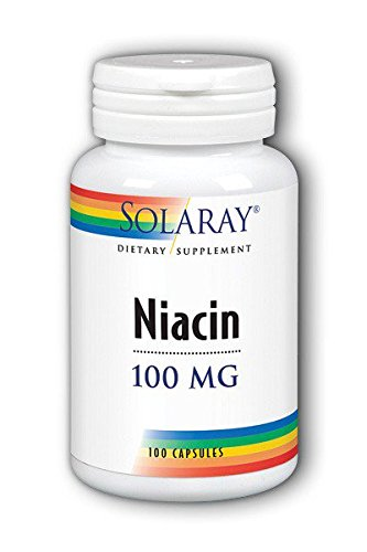 Solaray Niacin Vitamin Capsules, 100 mg, 100 Count