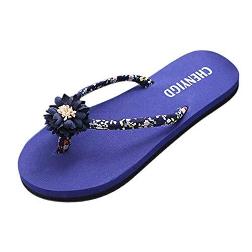Boho La Sexy Sandales Bleu Chaussure Ronde Fuxitoggo D'été Sous Plage Chaussures Femmes Tête Plates Look Sangles Tongs Pantoufles Nouveau Pour À Mode Douche 1B6ZqFBpS0