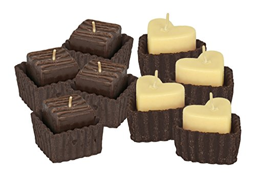 (Set of 8 Gourmet Decadent Chocolate Candles! Heart and Brownie Shape Candles! Incredible Delicious Scents! Perfect for Romance, Gifts, Gift Boxes, Date Night, Spa Days, Around the House, and More!)
