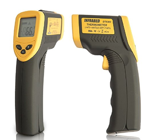 Champion IR Ultra Accurate Infrared Thermometer Temperature Gun, Instant Results, Auto-Off Function, LCD Screen, For Cooking and Automotive Maintenance