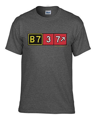 Pilot 737 (Pilot Expressions Men's Boeing 737 Taxiway Sign T-Shirt (X-Large))